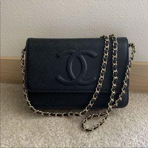 Handbags - Black WOC crossbody chain style bag